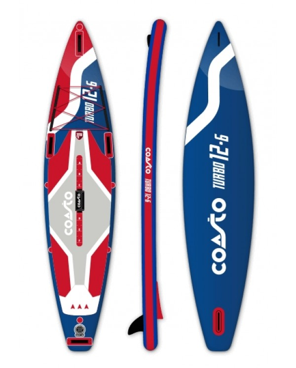 plavák COASTO Turbo 12'6''x30''x6'' Blue/Red