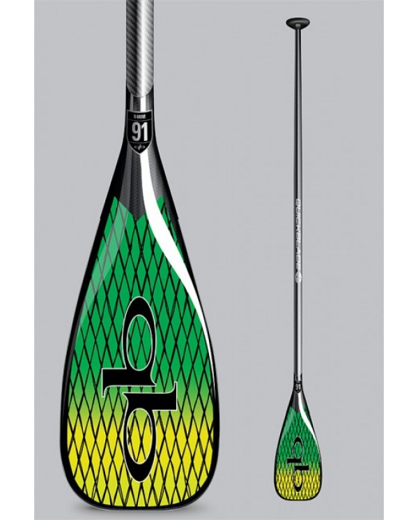pádlo QUICKBLADE V-Drive Vector Net 91 Travel adj Green/Yellow